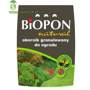 Obornik granulowany do ogrodu Biopon Natural 20 L